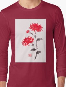 Royal pair sumi-e painting Long Sleeve T-Shirt