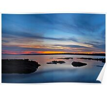 Tuggerah Lake. Sunset,,25-9-2010,Australia. Poster