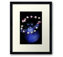 happy flower monster Framed Print