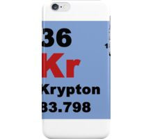 Periodic Table of Elements: No. 36 Krypton iPhone Case/Skin