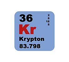 Periodic Table of Elements: No. 36 Krypton Photographic Print
