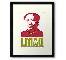 LMAO Chairman Mao Framed Print