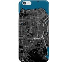 San Francisco city map black colour iPhone Case/Skin