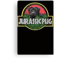 Jurassic Pug Funny Parody Urban Swag Canvas Print
