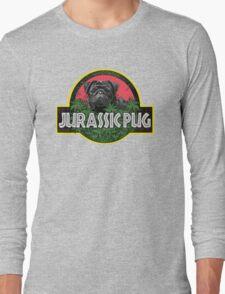 Jurassic Pug Funny Parody Urban Swag Long Sleeve T-Shirt