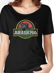 Jurassic Pug Funny Parody Urban Swag Women's Relaxed Fit T-Shirt