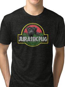 Jurassic Pug Funny Parody Urban Swag Tri-blend T-Shirt