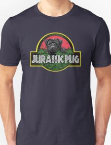 Jurassic Pug Funny Parody Urban Swag Unisex T-Shirt