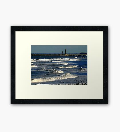 The Harbour Whitby Framed Print