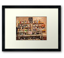 Cheese And Wine Bar Framed Print
