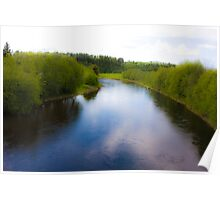 Fairy - tale  ...Bjora River... Nord Trondelag.  Norway .  Brown Sugar Story.2009. Favorites: 3 Views: 452 . Tight lines friends ! WooHoo! Poster