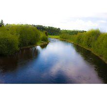 Fairy - tale  ...Bjora River... Nord Trondelag.  Norway .  Brown Sugar Story.2009. Favorites: 3 Views: 452 . Tight lines friends ! WooHoo! Photographic Print