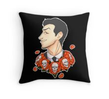 Jim Moriarty - Flowers Throw Pillow