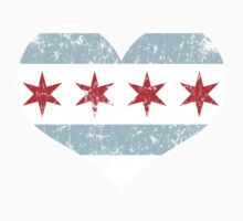 Vintage Chicago Flag Heart Kids Clothes
