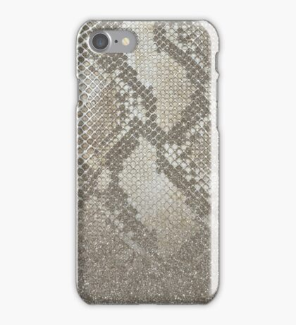 Shimmer (Gold Snake Glitter Abstract) iPhone Case/Skin