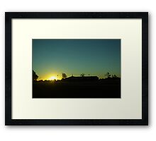 Sunrise Service  Framed Print