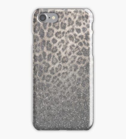 Shimmer (Snow Leopard Glitter Abstract) iPhone Case/Skin