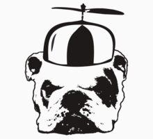 bulldog whirly hat Kids Tee