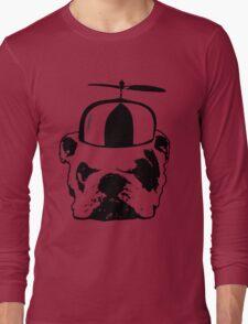 bulldog whirly hat Long Sleeve T-Shirt