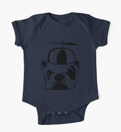 bulldog whirly hat One Piece - Short Sleeve