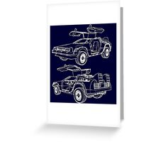 Delorean Time Machine Greeting Card
