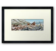 Palaeozoic scene Framed Print