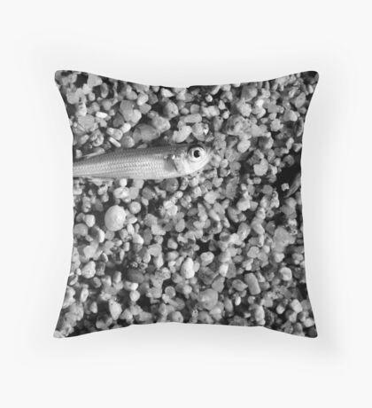 Porto Pollo - Silver fish. Throw Pillow