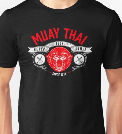 MUAY THAI - NEVE BEEN TAMED (Black) Unisex T-Shirt