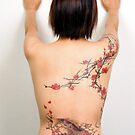 Freehand Cherry Blossoms &amp; Koi by TattooTemple