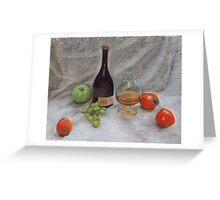 Cognac & Fruit Still Life Greeting Card