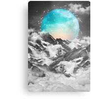 It Seemed To Chase the Darkness Away (Guardian Moon / Winter Moon) Metal Print