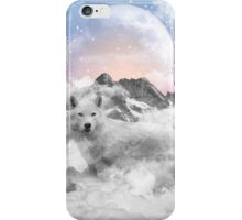 The Soul That Sees Beauty (Winter Moon / Wolf Spirit) iPhone Case/Skin