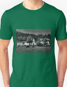 Obertraun walks 6 b&w T-Shirt