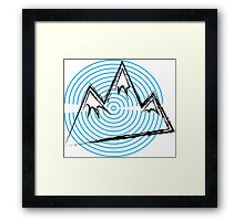 Sonic Mountains Framed Print