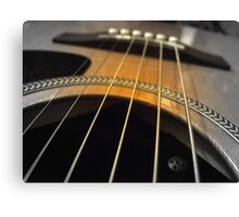 Spoken Guitar Canvas Print