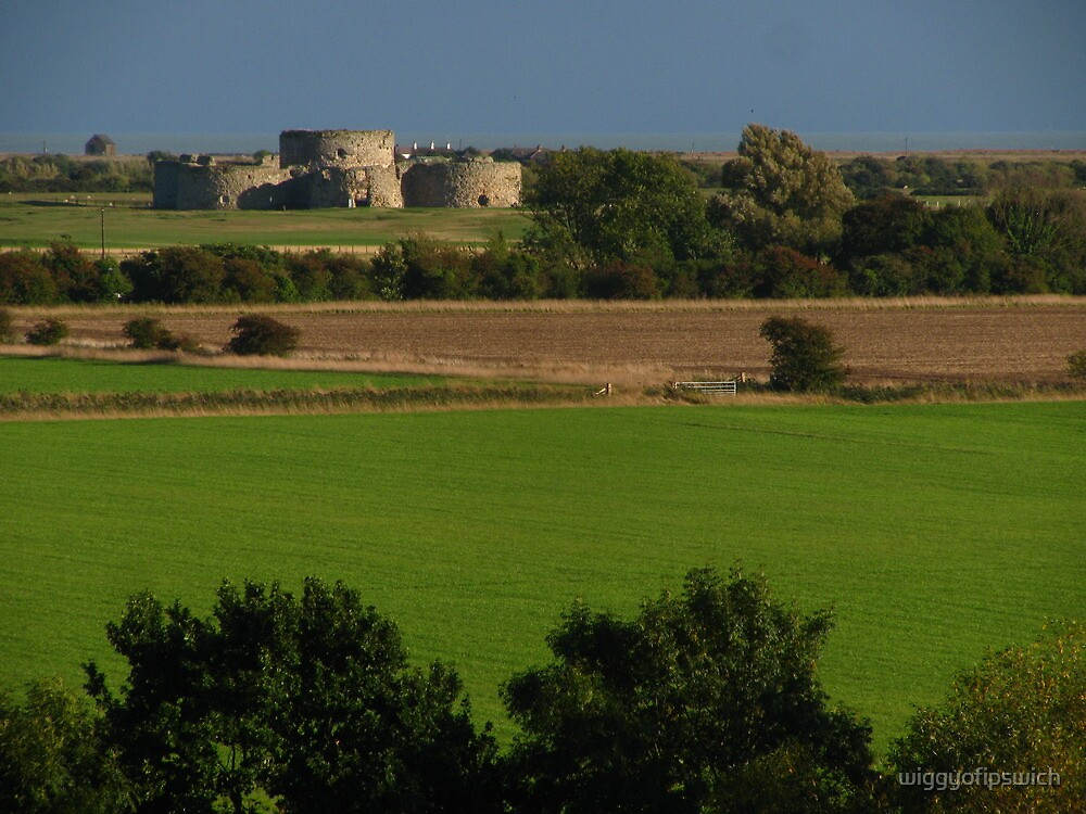 Camber Castle from Cadborough Cliffs by wiggyofipswich