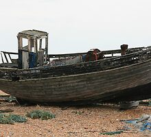 Dungeness - Old Wrecked Boat by Touchstone21