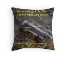 Protect our shores Throw Pillow