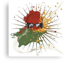 Male Dj Illustration 2 Canvas Print