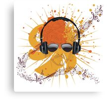 Male Dj Illustration Canvas Print