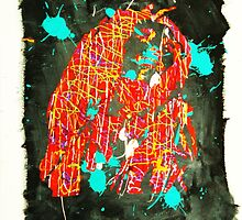 Bob Marley Abstract Painting By Vishinsky  by Sergei Vishinsky