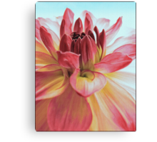 To Paint a Dahlia Canvas Print
