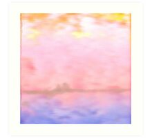 Pink Fluffy Clouds Art Print