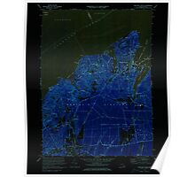 Massachusetts  USGS Historical Topo Map MA Vineyard Haven 351379 1972 25000 Inverted Poster