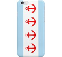 Nautical Anchors Chicago Flag iPhone Case/Skin
