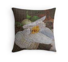 (calendar cover) white begonia Throw Pillow