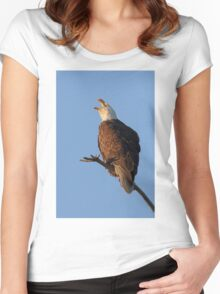 Bald Eagle at Sunset Women's Fitted Scoop T-Shirt