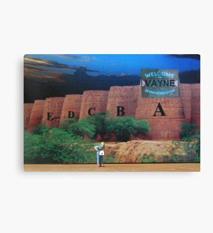 Phil didn't mind building Forts A thru E here, but he sure didn't want his F Forts to be in Vayne. Canvas Print