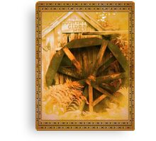 Country Cider Mill Water Wheel Canvas Print