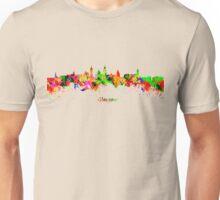 Glasgow Watercolor skyline Unisex T-Shirt